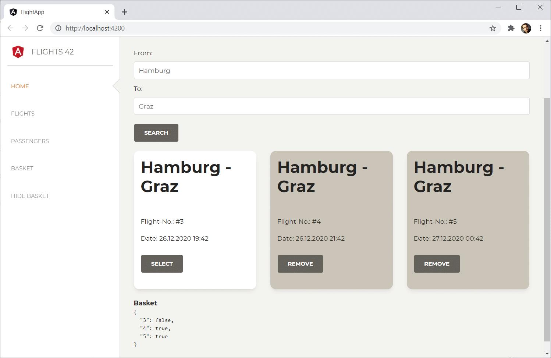 Der Warenkorb wird nun aktualisiert.